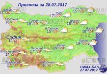 28 июля 2017 года, погода в Болгарии