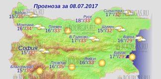 8 июля 2017 года, погода в Болгарии