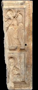 фрагмент двусторонней иконы найденной на раскопках в крепости Русокастро