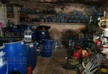 В Болгарии, в районе Несебра выявили несколько тонн нелегального алкоголя