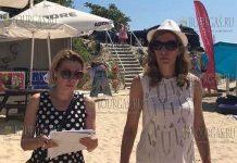 Николина Ангелкова инспектирует пляж Равда-Академика - фото Мин Туризма Болгарии
