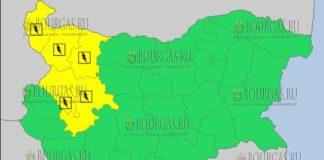 13 августа 2017 года, дождливый и грозовой Желтый коды в Болгарии