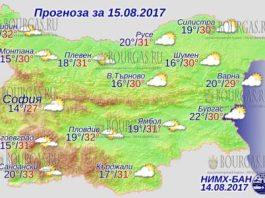 15 августа 2017 года, погода в Болгарии