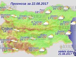 22 августа 2017 года, погода в Болгарии