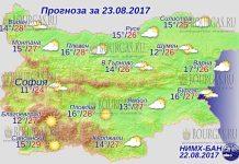 23 августа 2017 года, погода в Болгарии
