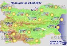 24 августа 2017 года, погода в Болгарии