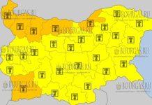 4 августа 2017 года, жаркий Желтый и Оранжевый коды опасности в Болгарии