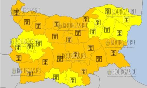 5 августа 2017 года, жаркий Желтый и Оранжевый код в Болгарии