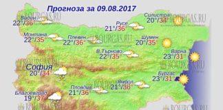 9 августа 2017 года, погода в Болгарии