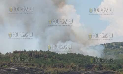 Из-за пожара автодорога Миролюбово-Изворище закрыта