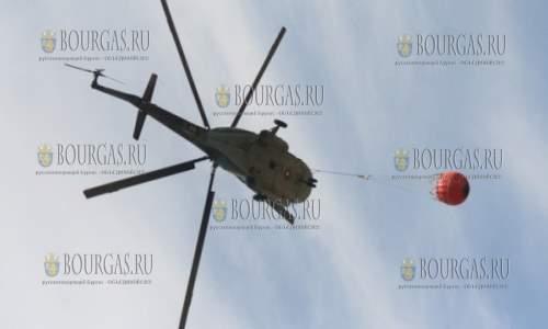 На тушении пожара в районе Изворище задействуют вертолет