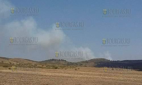 Пожар в районе селения Изворище в Бургасе снова разгорелся