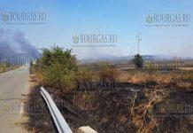 Пожарные в Бургасе, в районе Изворище уже несколько часов ведут борьбу с огнем, но укротить его не получается