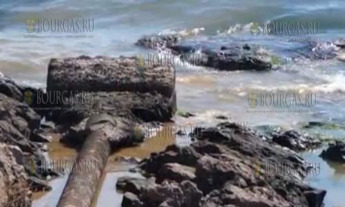 Сточные воды в районе Созополя сбрасывают в море