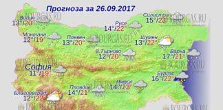 26 сентября 2017 года, погода в Болгарии