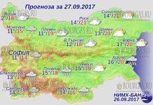 27 сентября 2017 года, погода в Болгарии
