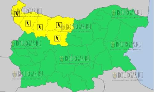 3 сентября 2017 года, дождевой и грозовой Желтый код в Болгарии