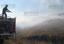 Пожар между Каблешково и Ахелой