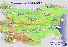 17 октября 2017 года, погода в Болгарии