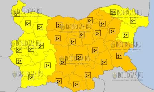 24 октября 2017 года, дождливый Оранжевый и Желтый код опасности
