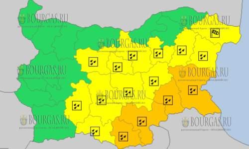 25 октября 2017 года, дождливый Желтый код опасности