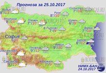 25 октября 2017 года, погода в Болгарии