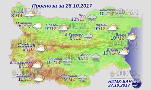 28 октября 2017 года, погода в Болгарии