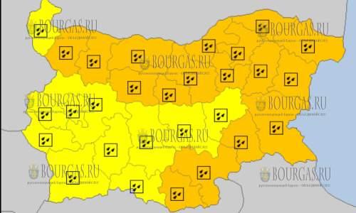 7 октября 2017 года, дождливый Оранжевый и Желтый код опасности