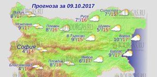 9 октября 2017 года, погода в Болгарии