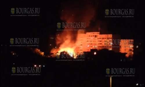В центре Бургаса пожар