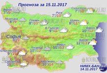 15 ноября 2017 года, погода в Болгарии