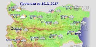 19 ноября 2017 года, погода в Болгарии