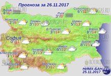 26 ноября 2017 года, погода в Болгарии