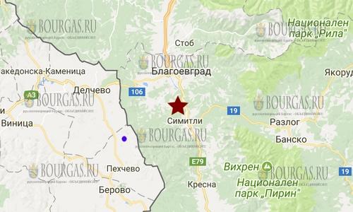 28 ноября 2017 года в Болгарии произошло землетрясение 2,1 балла по шкале Рихтера
