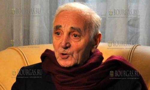 Шарль Азнавур прилетел Болгарию