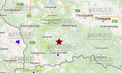 землетрясение в Банско