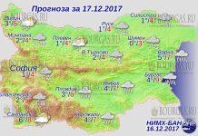 17 декабря 2017 года, погода в Болгарии