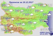 19 декабря 2017 года, погода в Болгарии