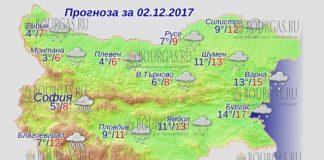 2 декабря 2017 года, погода в Болгарии