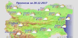 28 декабря 2017 года, погода в Болгарии