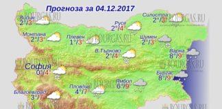 4 декабря 2017 года, погода в Болгарии
