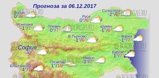 6 декабря 2017 года, погода в Болгарии
