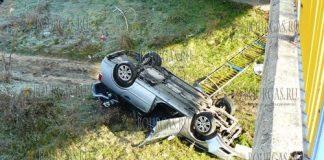 в Пазарджике автомобиль упал с моста через реку Марица