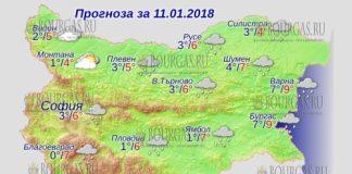 11 января 2018 года, погода в Болгарии