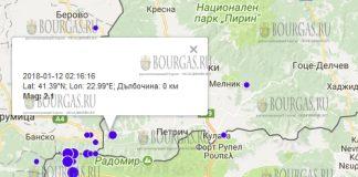 12 января 2018 года, землетрясение в Петрича
