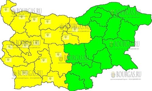 15 января 2018 года, Желтый код в Болгарии