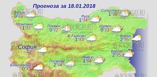 18 января 2018 года, погода в Болгарии