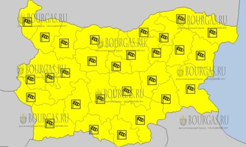 18 января 2018 года, ветреный Желтый код в Болгарии