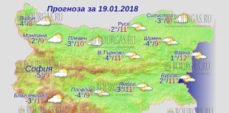 19 января 2018 года, погода в Болгарии