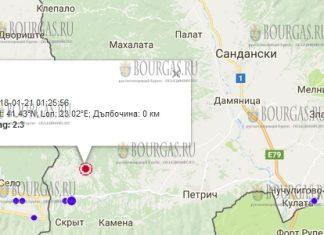 21 декабря 2017 года в Болгарии произошло землетрясение 2,3 балла по шкале Рихтера